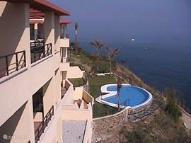 Pool and sea views from Balcony