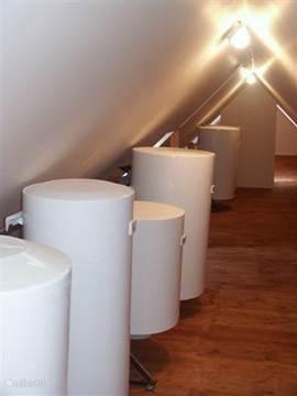 Onze boilers van 720 liter totaal geven Voldoende warm water voor iedereen.