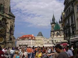 A busy day in Prague