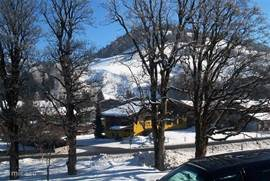 uitzicht op Natrun, skigebied Maria Alm, vanuit de woning