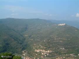 panorama  uitzicht vanaf terras