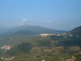 panorama uitzicht vanaf het terras