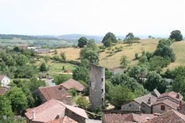 Uitzicht over middeleeuws Cardaillac