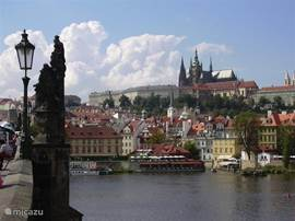 Prague as seen from the Charles Bridge.