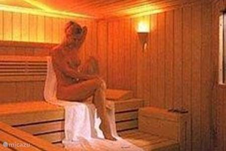 Relaxation area with sauna