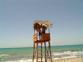 Bewaking bij het strand