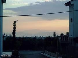 Zonsondergang zicht op Samos