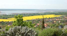 Uitzicht over Velencemeer