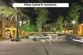 Het centrum van Sant Carles de la Rápita. (plaza Carlos III)