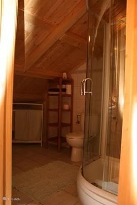 Beide badkamers zijn voorzien van een comfortabele wastafel, een toilet en een douche met massagedouchekop.