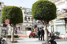 Dit is het dorpscentrum van MijasPueblo met allerlei leuke winkeltjes en terrasjes.
