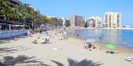 Strand, Playa del Cura en Playa los Locos, beide op 500 meter van het appartement