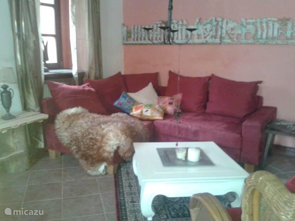 Gezellige zithoek in de woonkamer