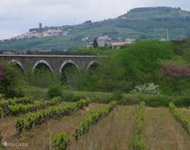 Van Villeneuve-de-Berg naar Tarnondette en het dorpje Mirabel.
