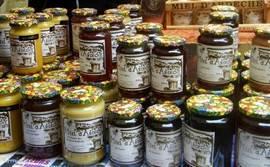 Op de markt: Miel de l'Ardèche!