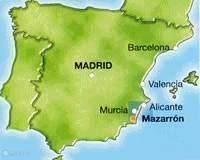 Mazarron ligt ten zuiden van Alicante 15 min van de middelandsche zee