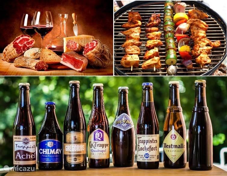 Gezellig barbecuen en heerlijk genieten van een ardennerham. Met een lekker wijntje of een speciaal belgisch biertje!