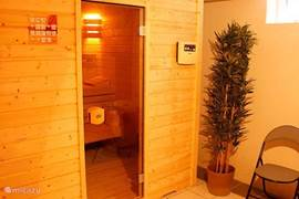 Sauna buitenaanzicht.