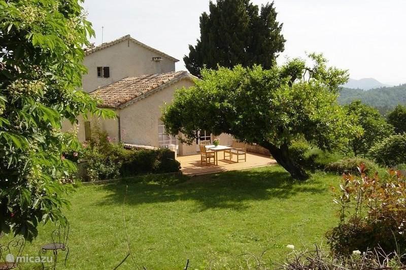 Vakantiehuis Frankrijk, Gard, Robiac-Rochessadoule Landhuis / Kasteel Het Elysium 4 à 5 p