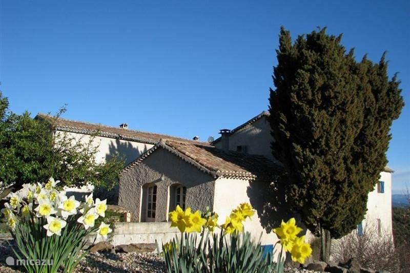 Vakantiehuis Frankrijk, Gard, Molières-sur-Cèze Vakantiehuis Mas Blanc, Tapperij 5 à 6 personen
