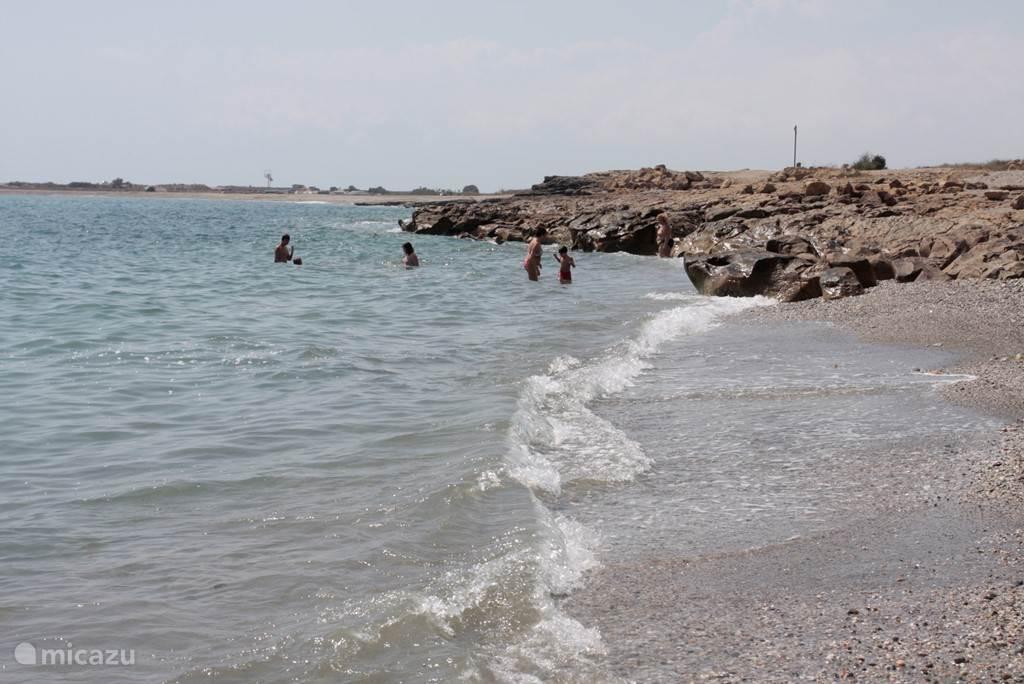 Strand met uitzicht naar rechts