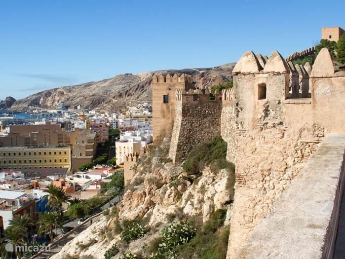 Het Alcazaba ( kasteel in Almeria Stad )