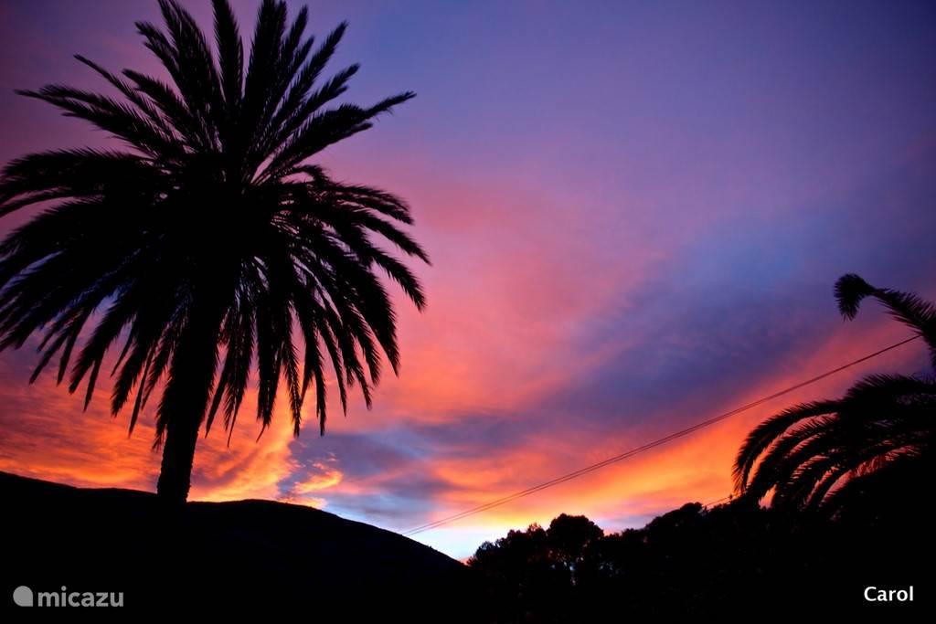 Nee geen kleur toegevoegd…een echte mooie winterse zonsondergang