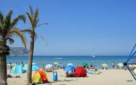 Het strand bij Gavea ,mooi,schoon en breed. Leuke boulevard en winkels, prima Er zijn wel 10 verschillende stranden om naar toe te gaan, zandstranden, boulevardstranden, keistranden, brede en smalle, stille en drukke...Wij wijzen u de mooiste.