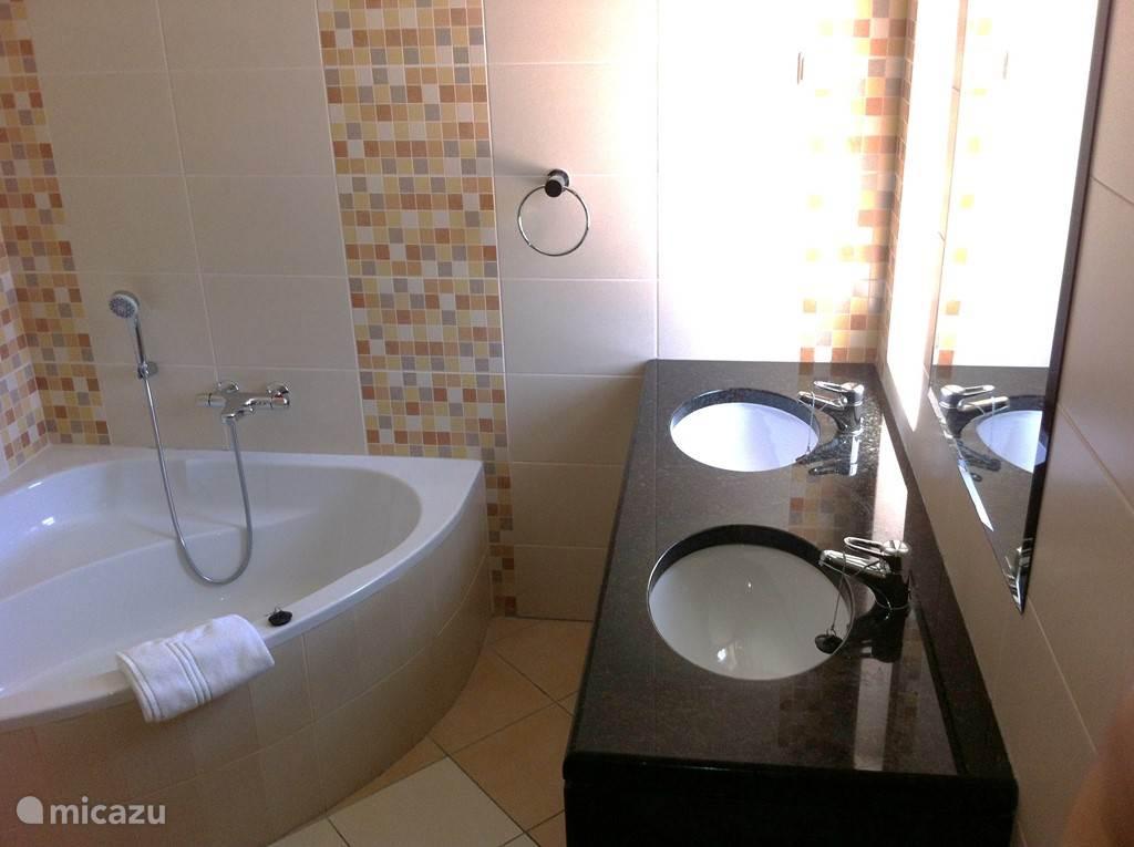 En suite badkamer, behorend bij slaapkamer 1.