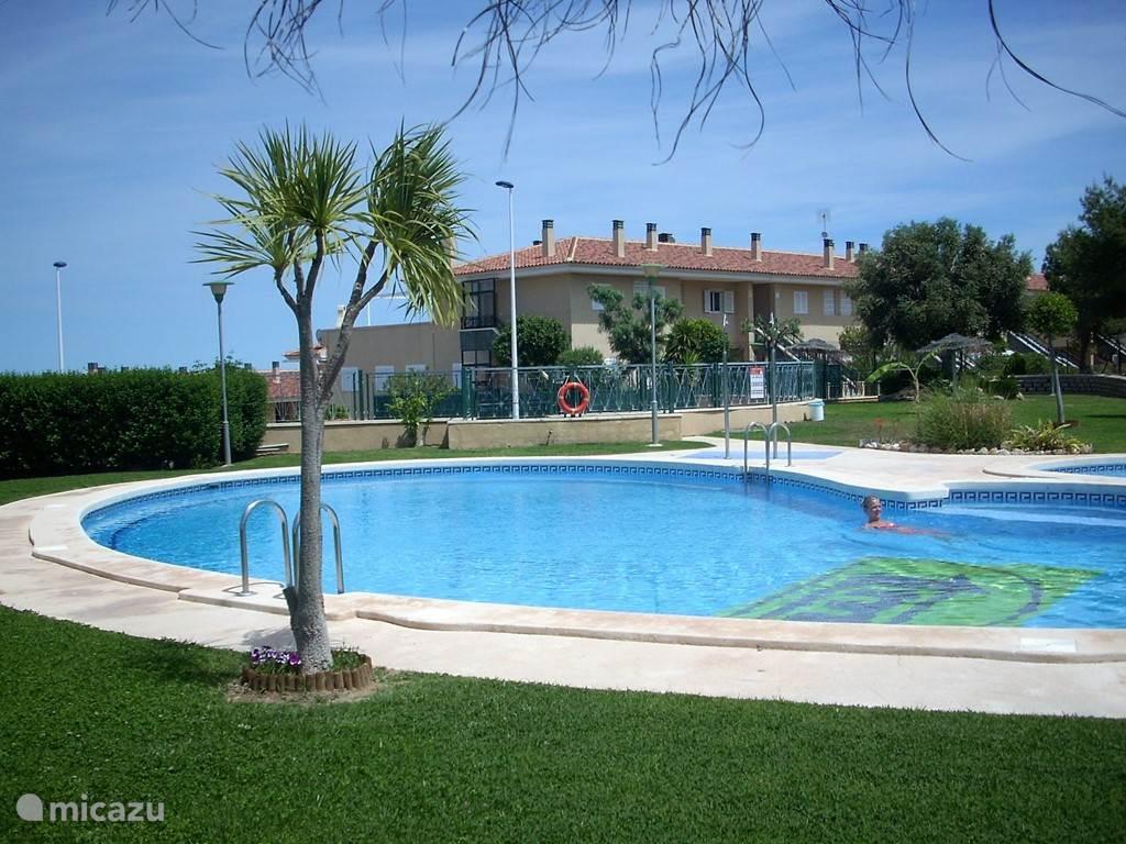 Het zwembad achter uw vakantiehuis