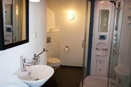 Penthouse appartement: luxe badkamer met stoomdouche cabine