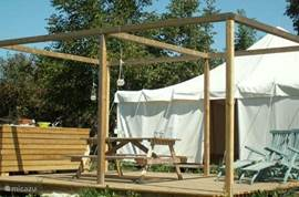 We offer two fully equipped 4-person game House tents for rent with private bathroom.