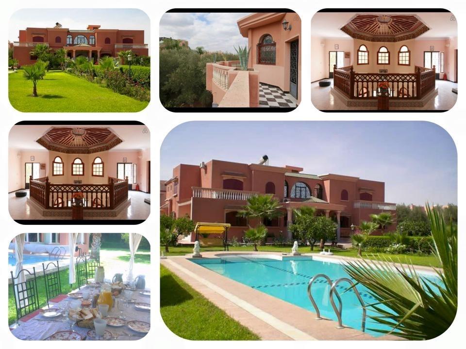Pracctige villa met verwarmd zwembed vlak bij het centrum van Marrakech voor 12 personen. . Nu van € 1750 voor slechts € 1500 per week.
