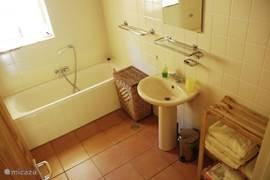 badkamer met douche en ligbead