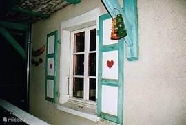 Het groene huis..met de hartjes