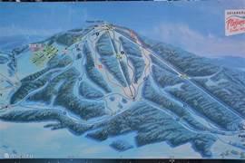 nieuwe skigebied Plesivec, op de berg tegenover Huis Abertamy