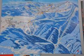 Plattegrond skigebieden Bozi Dar, Klinovec en Oberwiesenthal