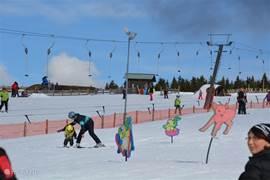 Skigebied Novako (Bozi Dar): geschikt voor lessen aan beginners/kinderen.