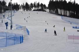 Blauwe piste in skigebied Plesivec