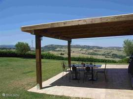 pergola and terrace with panoramic view (2xclick: larger)