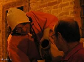 De Rosso Piceno vloeit rijkelijk tijdens de vele sagra's in de omgeving...