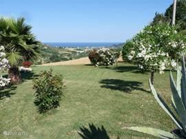 vanaf uw terras een prachtig uitzicht op de Adriatische Zee.