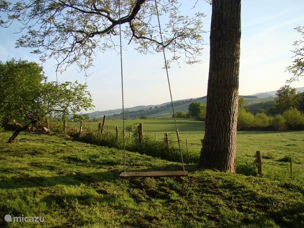 La Goutte, uitzicht vanuit de tuin.