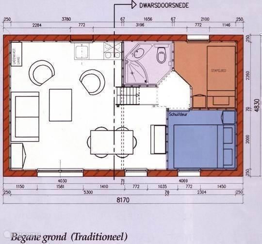 plattegrond bungalow, beneden