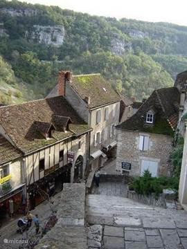Rocamadour, sfeervolle straatjes en trappen