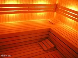 Een saunagang is een heerlijke avondactiviteit!