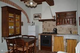 De keuken van Appartement Tinnaia. De andere keukens zijn vrijwel identiek