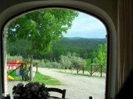 Het prachtige uitzicht uit ons ontbijtrestaurant, waar een heerlijk uitgebreid italiaans ontbijtbuffet gereserveeerd kan worden