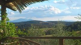 Uitzicht op Monte Amiata vanaf Podere Alberese