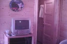 cupboard with games and TV with DVD